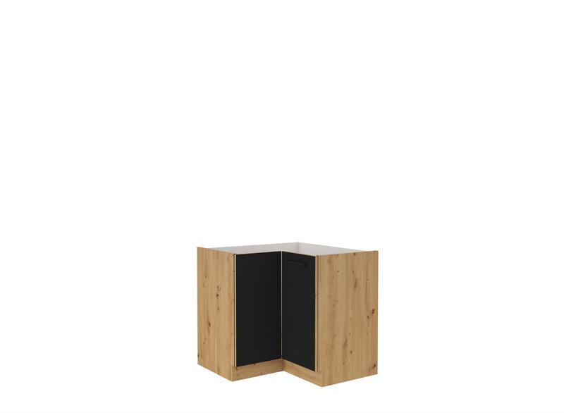 Dolní rohová skříňka Moderna 7 (89/89 cm) černý mat