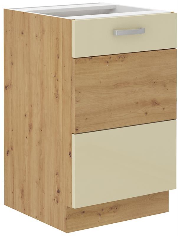 Dolní skříňka dřezová Arisa 8 (50 cm) krémový lesk