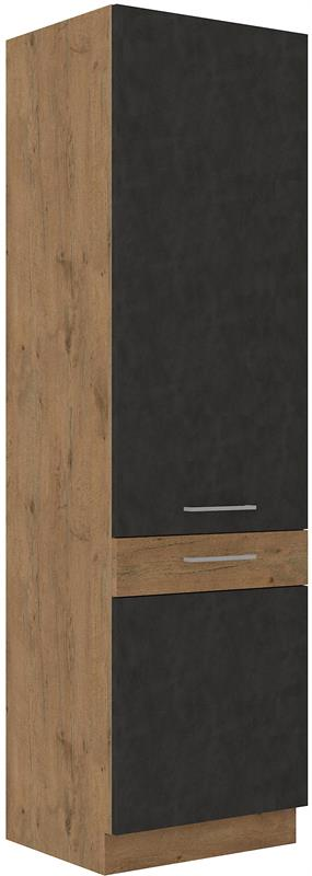 Potravinová skříň Viktorie grafit mat 37 (60 cm)