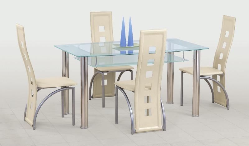 Skleněný jídelní stůl Cristal