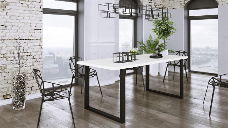 Jídelní stůl bílý 138 x 67 cm