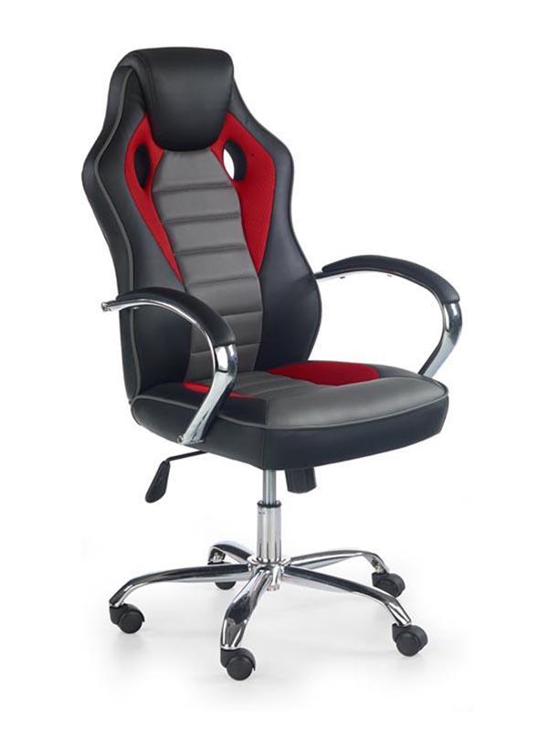 Kancelářská židle Scroll černo-červeno-šedá