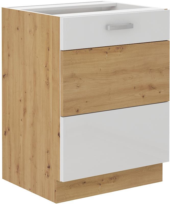 Dolní skříňka Arisa 4 (60 cm) bílý lesk - bez pracovní desky