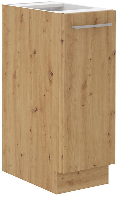 Dolní skříňka výsuvná Arisa 40 (30 cm) bílý lesk bez pracovní desky