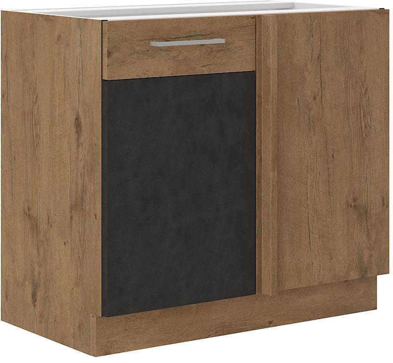 Dolní rohová skříňka Viktorie grafit mat 35 (105 cm) - bez pracovní desky