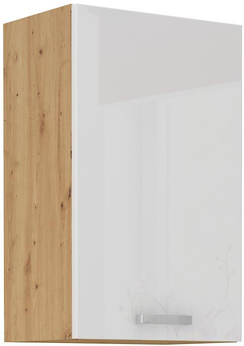 Horní skříňka Arisa 17 (45 / 72 cm) bílý lesk