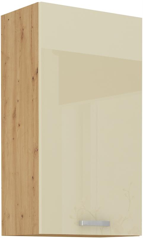 Horní skříňka Arisa 23 (50 / 90 cm) krémový lesk