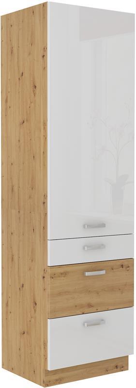 Skříň Arisa 37 (60 cm) bílý lesk