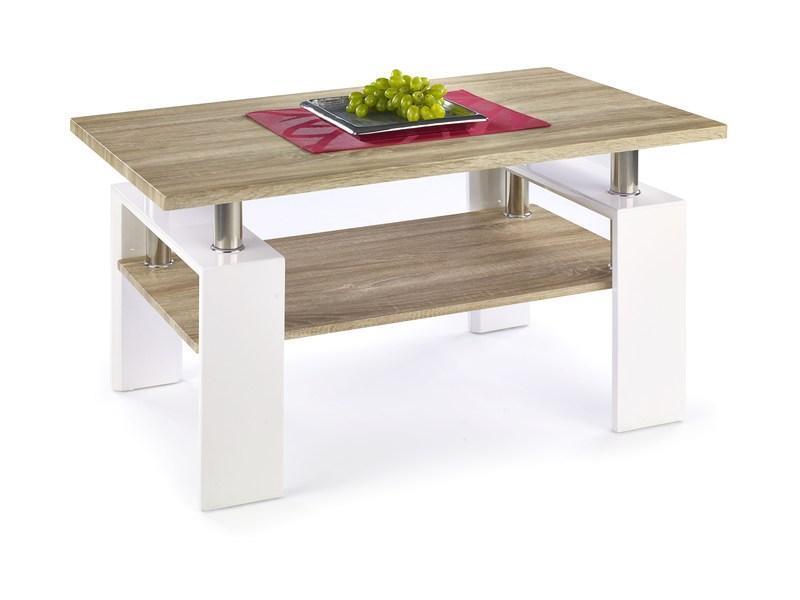 Konferenční stolek DIANA dub sonoma/bílý