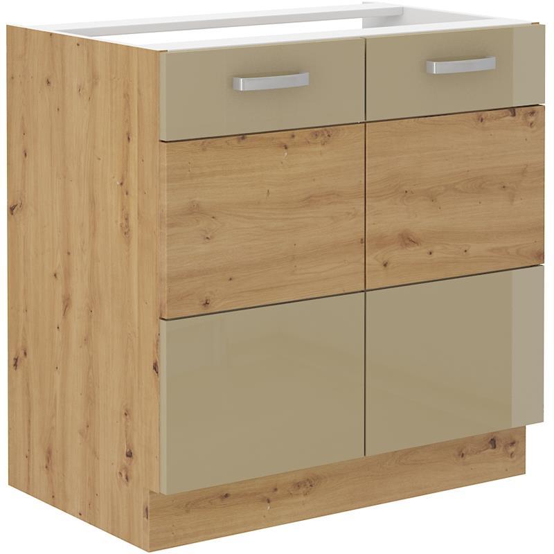 Dolní skříňka dřezová Arisa 1 (80 cm) cappucino lesk