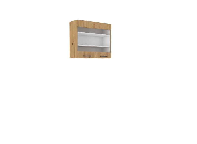 Horní skříňka prosklená Moderna 10 (80 cm)