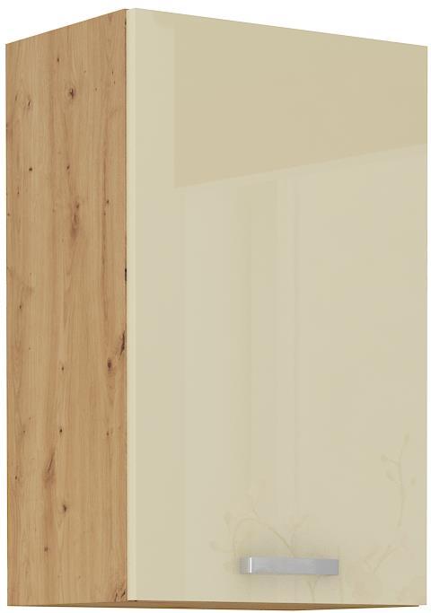 Horní skříňka Arisa 17 (45 / 72 cm) krémový lesk