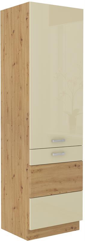 Potravinová skříň Arisa 36 (60 cm) krémový lesk