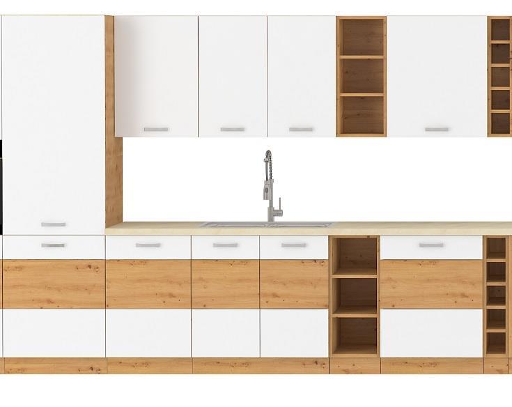 Kuchyňská linka Arisa bílý lesk (volitelná sestava)