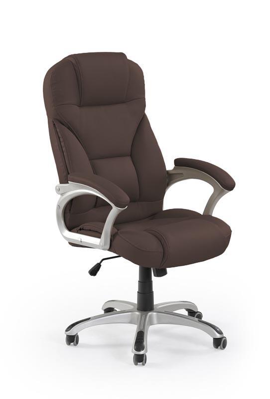 Kancelářská židle Desmond - tmavě hnědá