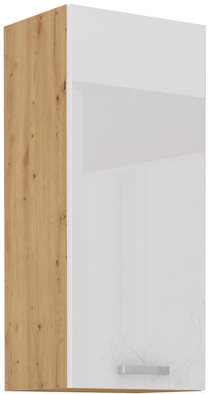 Horní skříňka Arisa 25 (40 / 90 cm) bílý lesk