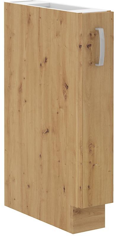 Dolní skříňka výsuvná Arisa 41 (15 cm) bílý lesk bez pracovní desky