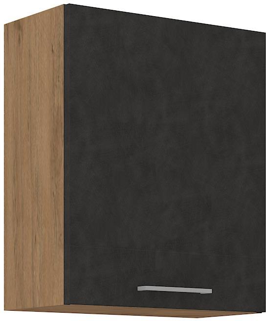Horní skříňka Viktorie grafit mat 17 (60 cm)