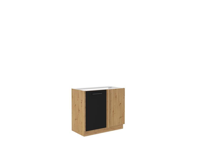 Dolní rohová skříňka Moderna 8 (105 cm) černý mat