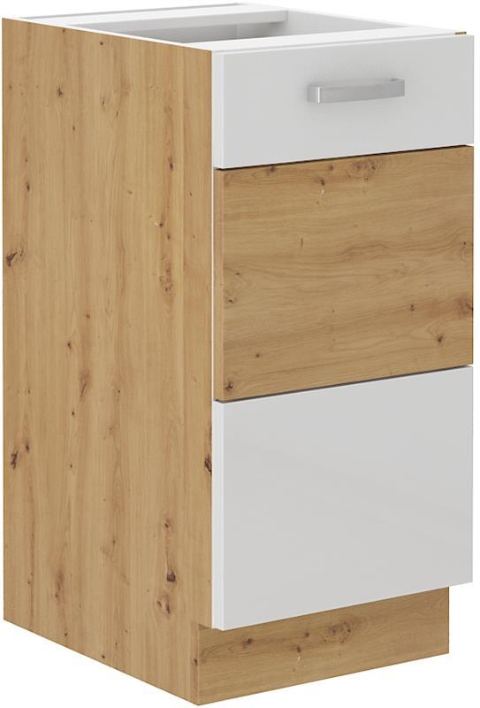 Dolní skříňka Arisa 6 (40 cm) bílý lesk - bez pracovní desky
