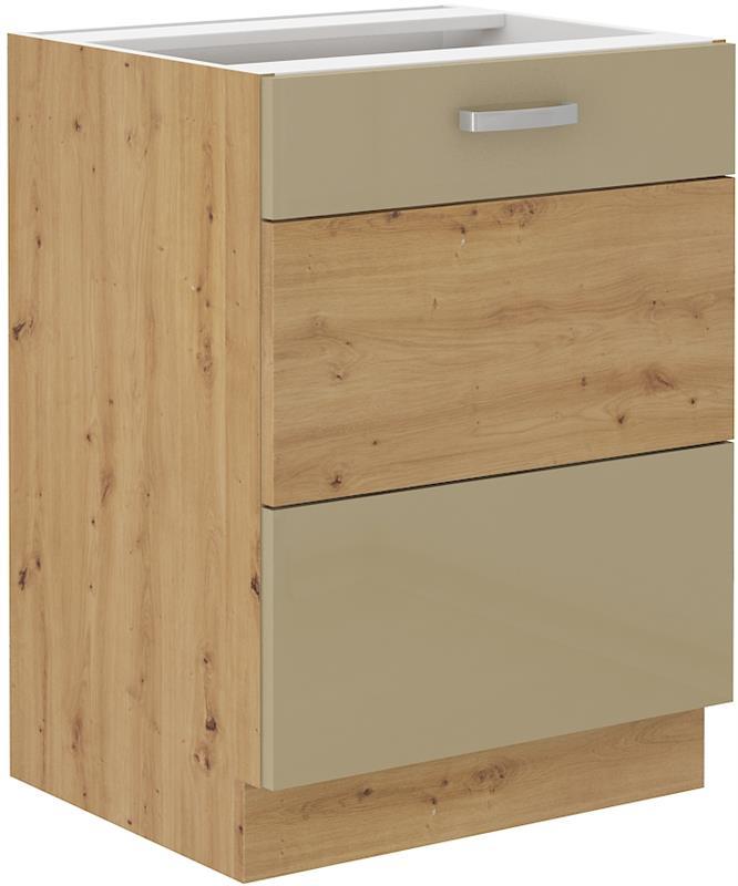 Dolní skříňka Arisa 4 (60 cm) cappucino lesk bez pracovní desky