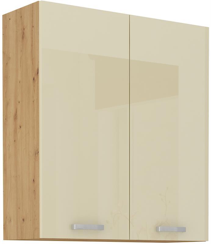 Horní skříňka Arisa 21 (80 / 90 cm) krémový lesk