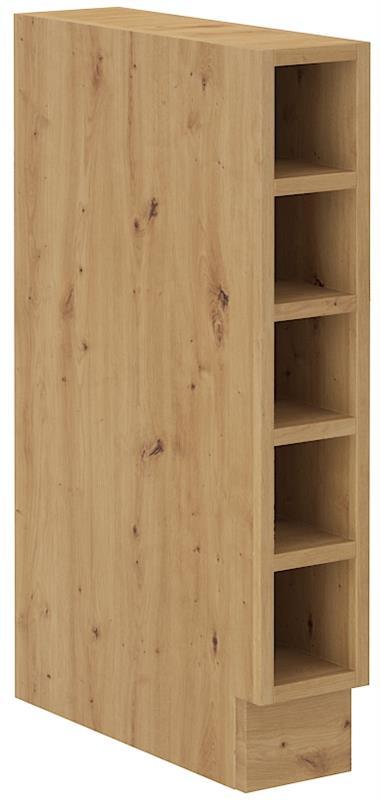 Dolní otevřená skříňka Arisa 28 (15 cm) cappucino lesk bez pracovní desky