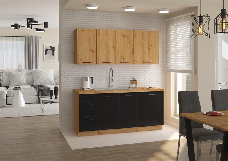 Kuchyňská linka Moderna 2 - černý mat ( volitelná sestava )