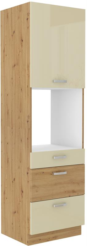 Skříň pro troubu Arisa 38 (60 cm) krémový lesk