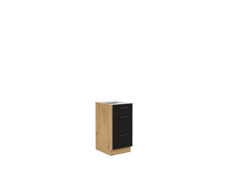 Dolní skříňka Moderna 4 (40 cm) černý mat