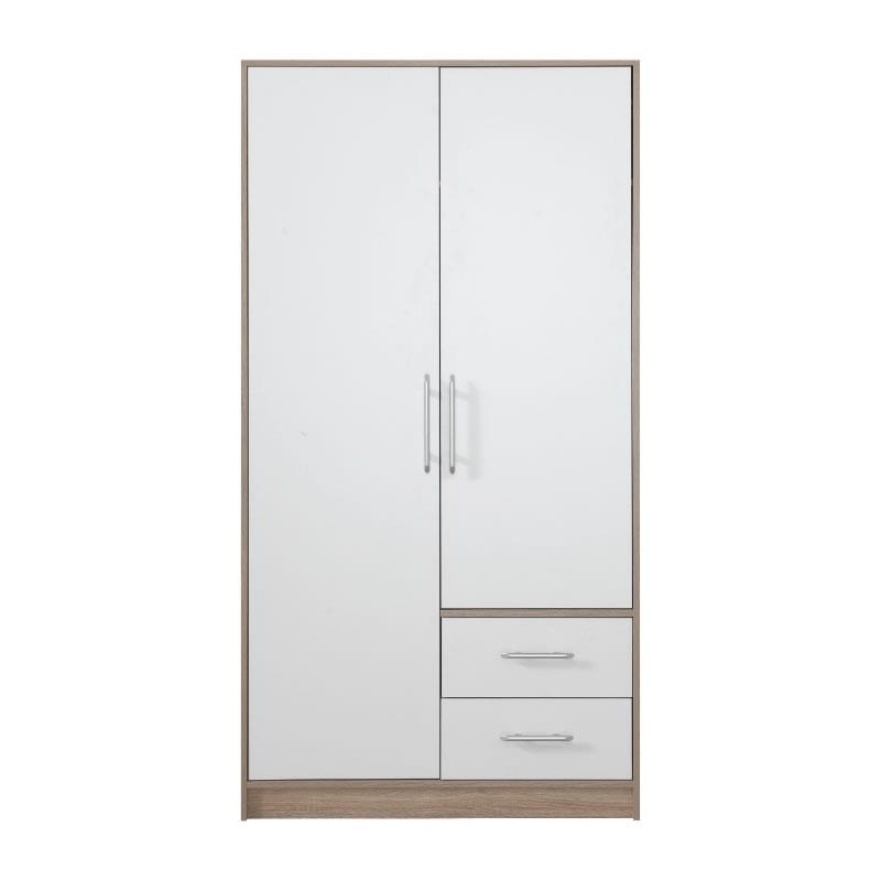 Šatní skříň Simona 3 dub sonoma / bílý lux - 100 / 190 / 56 cm