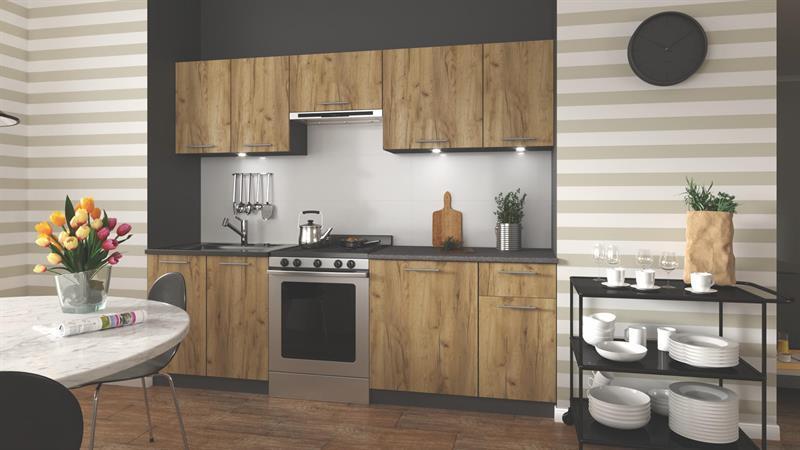 Kuchyňská linka Darina 240 cm - dub Wotan
