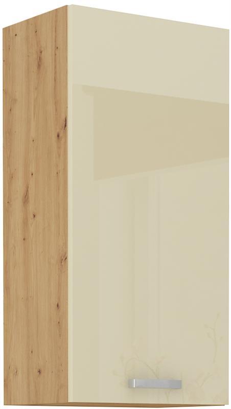 Horní skříňka Arisa 24 (45 / 90 cm) krémový lesk
