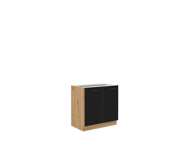 Dolní skříňka Moderna 2 (80 cm) černý mat