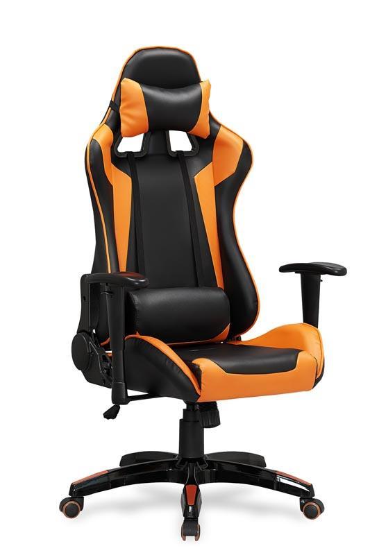 Kancelářská židle Defender černo-oranžová