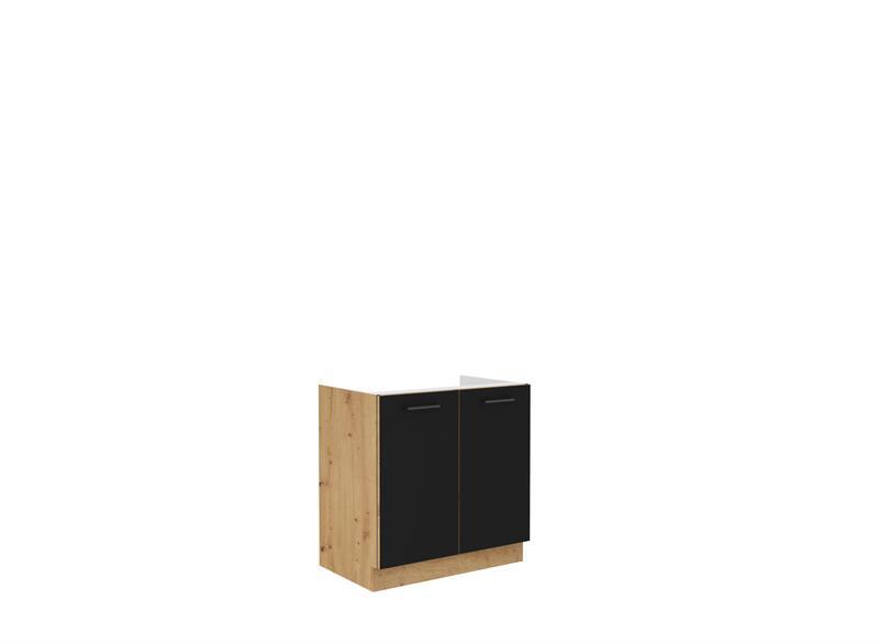 Dolní skříňka dřezová Moderna 1 (80 cm) černý mat