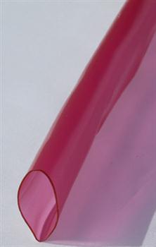 PVC bužírka transparentní tónovaná červeně