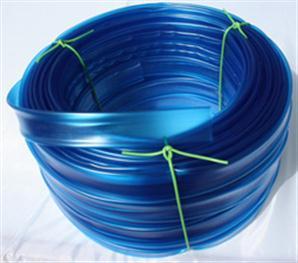 PVC bužírka transparentní tónovaná modře