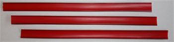Klipovací pásek s drátky červený