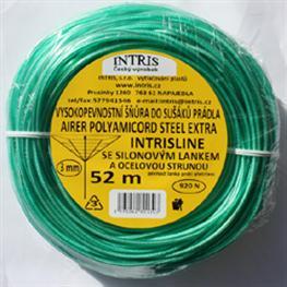 Vysokopevnostní šňůra 3 mm do sušáku se silonovým lankem vyztužená ocelovou strunou EXTRA STEEL