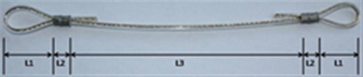 Rozměry ke stanovení správné funkční délky lanka s oky