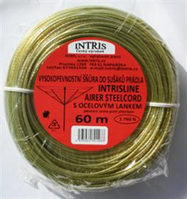 Prádelní šňůra s ocelovým lankem INTRIS AIRER STANDARD 60 m