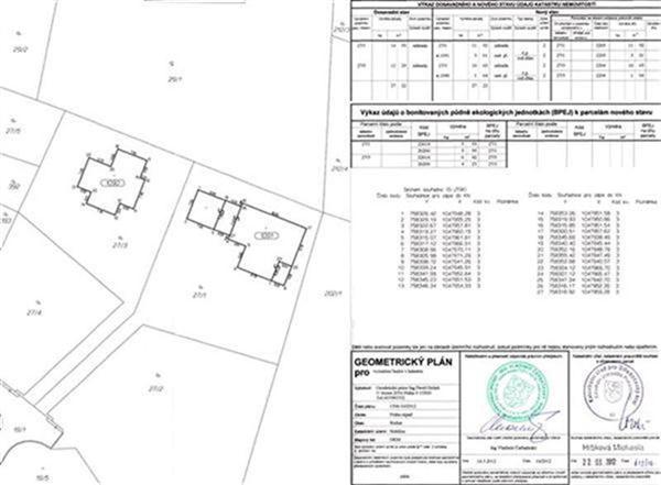 Geometrický plán - zaměření rodinných domů