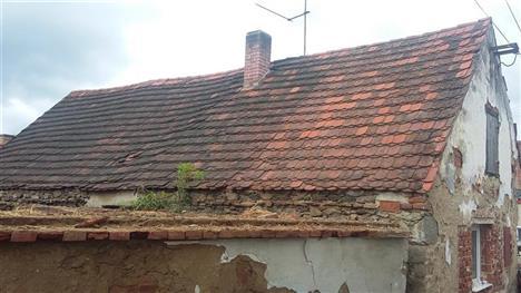 Rekonstrukce střechy - Krejnice - před rekonstrukcí