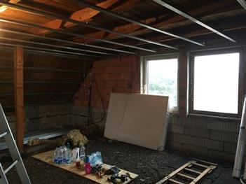 Rekonstrukce podkroví - Radimovice u Želče  - před rekonstrukcí