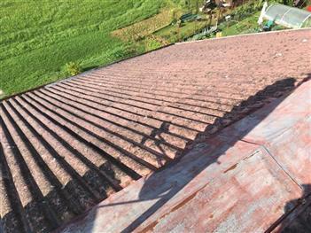 Rekonstrukce střechy - Plav - ( Před rekonstrukcí)