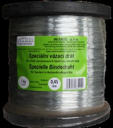 Rollen mit verzinktem Draht 0,45 mm für Wicklung der Spulen in Rebenbindegerät und Bindezange